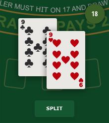Splitta i blackjack