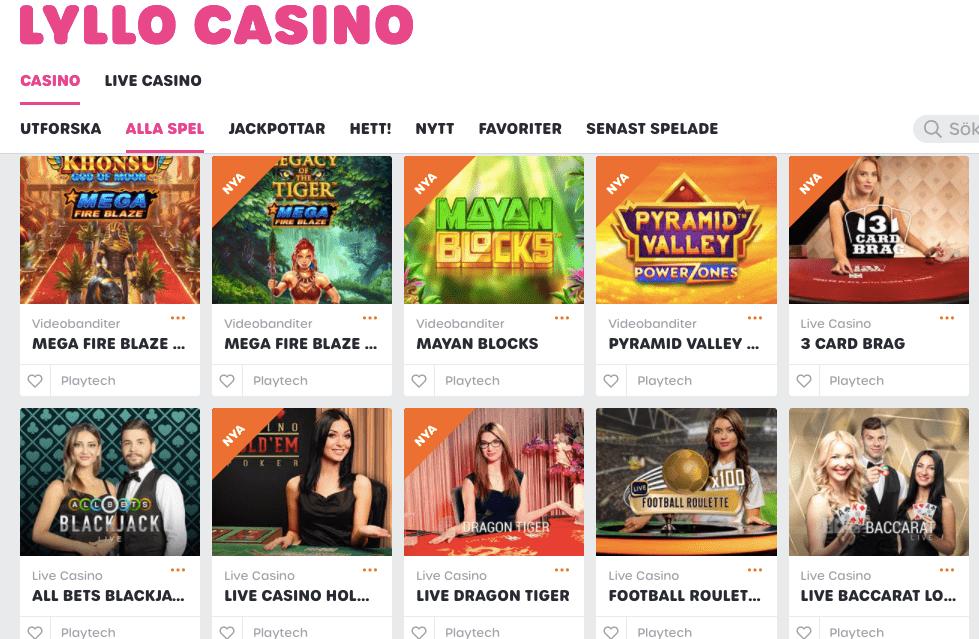 lyllo casino lobby
